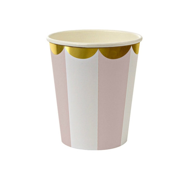 light pink paper cups party cups gold and pink princess party. Black Bedroom Furniture Sets. Home Design Ideas