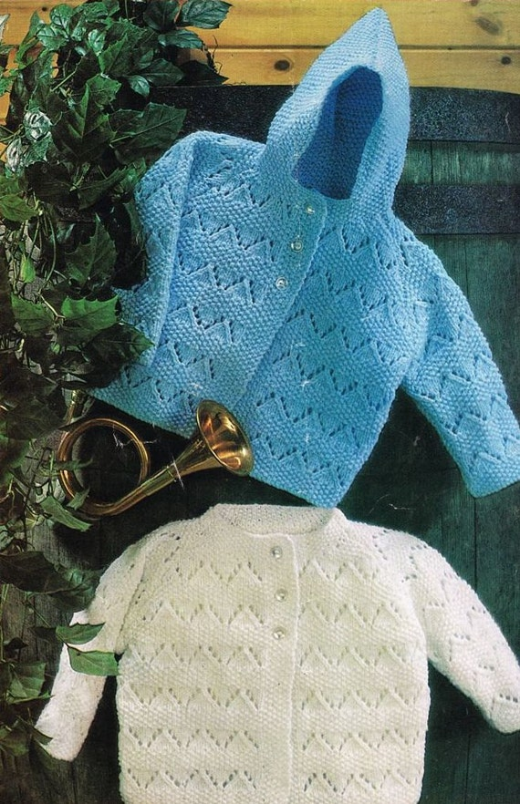 Vintage Knitting Patterns For Babies : baby cardigan vintage knitting pattern PDF instant download