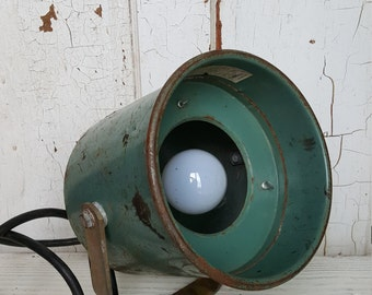 Industrial Light Fixture Swivel Canister Sturdilite Mid Century Made in USA