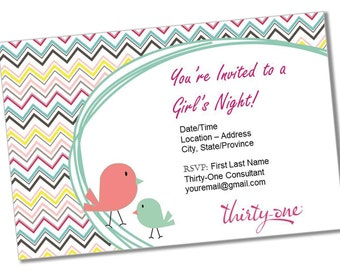 INSTANT DOWNLOAD Thirty-One Gifts Invitation * Customizable * Reusable * Printable