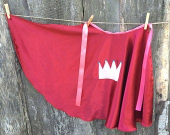Princess cape - birthday party favor - kids halloween costume - childrens cape - birthday or christmas gift