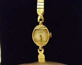 Vintage 14K Gold HydePark 17 Jewel Ladies Wrist Watch