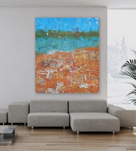 Huge XL abstract painting cityscape landscape custom order modern abstract wall art canvas painting large wall art large abstract big art