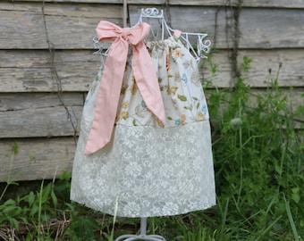 Lace Bottom Pillowcase