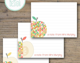 Apple Flat Note Cards {Set of 10}