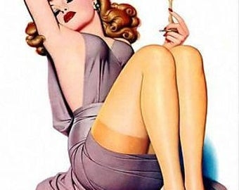1950's Vintage Pin-Up Girl Poster 16 A3 Print