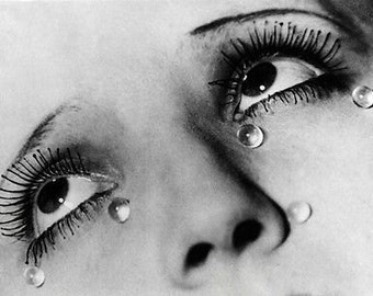 Tears - Iconic Surreal A3 B&W Photo Reprint By Man Ray