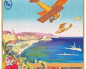1922 Nice Aviation Show Poster A3 Print