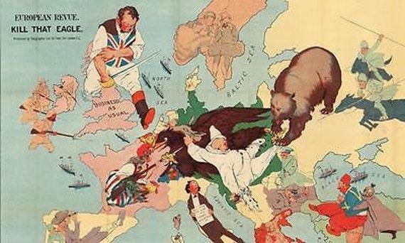 19th Century Political Satire Cartoon John Bull Europe Poster