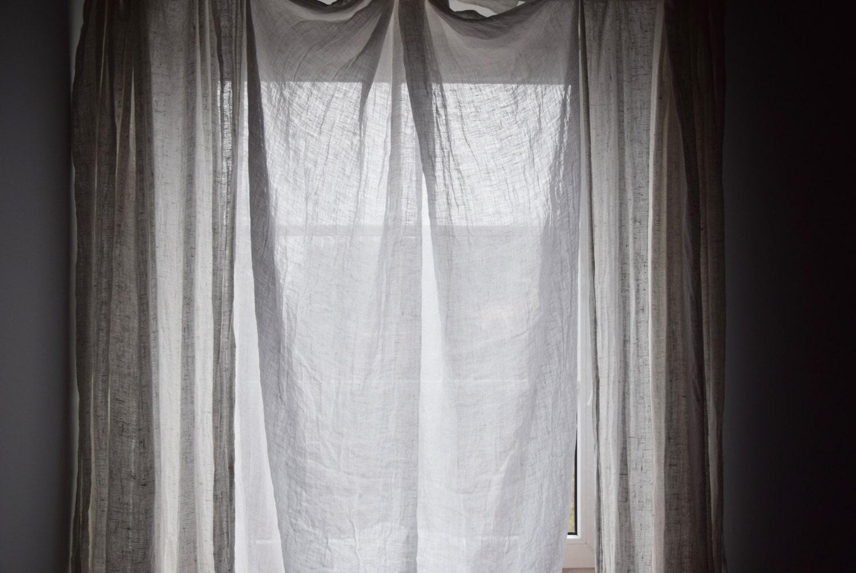 Very Thin 100gsm Sheer Pure 100 Linen Fabric Stark White
