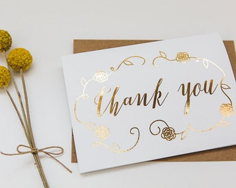 Gold Foil Card // Thank You