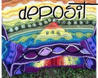 Deposit for Custom Rainbow Technicolor Dream Coat