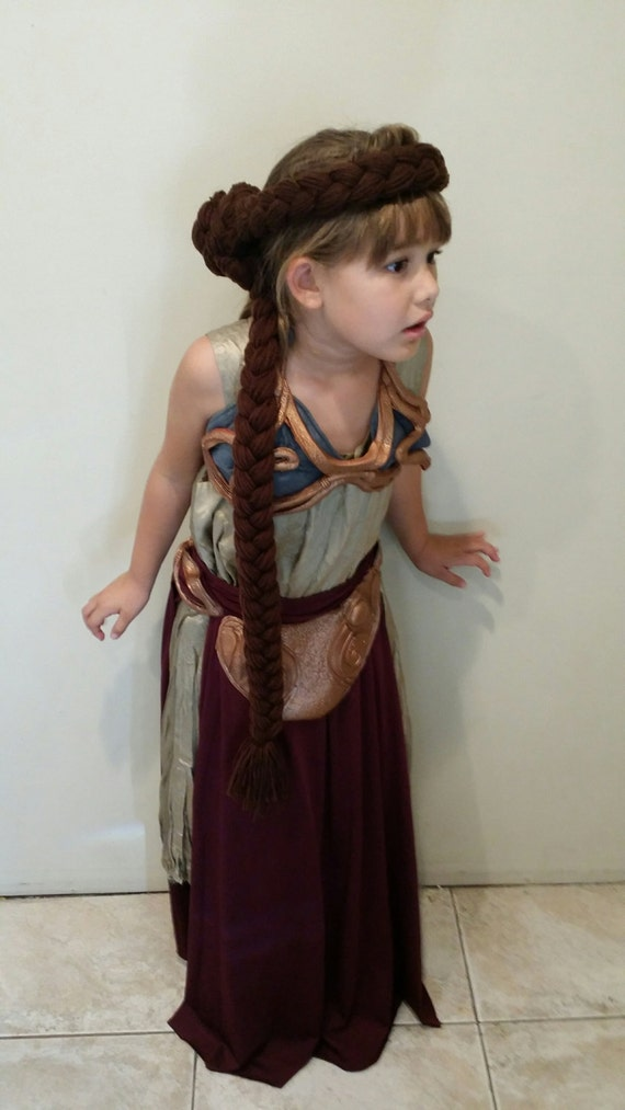 Princess Leia Slave Wig Yarn Hair Jabba The Hutt Costume