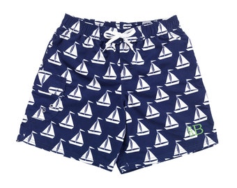 Sail Away Trunks with Monogram