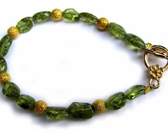 Children's Peridot Bracelet
