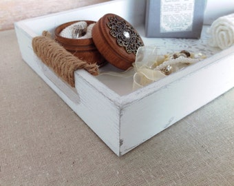 Wooden tray - shabby chic decor
