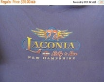 SALE Laconia NH Harley Davidson T Shirt Bike and Rally Week Weirs Beach Laconia Classic Motorcycle Race Meredith Nh Harley Davidson Shirt