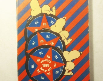 1976 Day by Day Peanuts/Snoopy Journal/Calendar Book.  RARE.