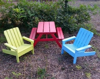 Kids Picnic Table or Adirondack Chair Made by a Veteran