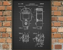 Vintage Car Parking Meter Patent Print - Automotive Art - Car Parking - Parking Meter Art - Automobile Art - Vintage Car Art