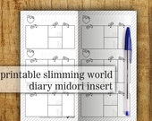 Midori Printable Insert - Slimming World · Food Diary · Instant DOWNLOAD · Print at home · Personal size