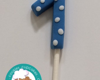 Numbers fondant cake topper