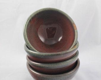 4 Small Stoneware Bowls