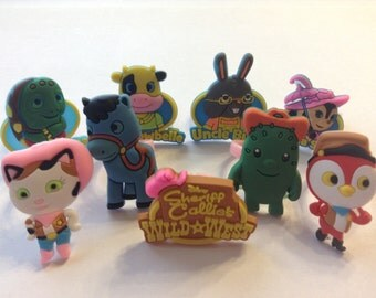 Sheriff Callie Favor Cupcake Toppers Rings