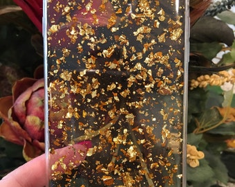 Gold Leaf Flakes iPhone 5/5s, 6/6s, 6/6s plus