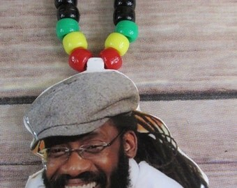 SALE Tarrus Riley Rasta Necklace/Medallion