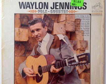 Waylon Jennings -  Folk-Country LP Vinyl Record Album, RCA Victor - LSP-3523, Folk, Country, 1966
