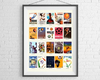 The World Cup Poster - Football Poster  - Adidas - World Cup Poster - World Cup History - Soccer Ball - FIFA