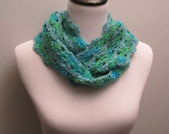 Extra Long Green Circular Scarf