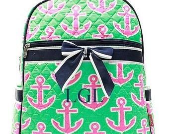 Preppy Monogrammed Backpack  Personalized Backpack