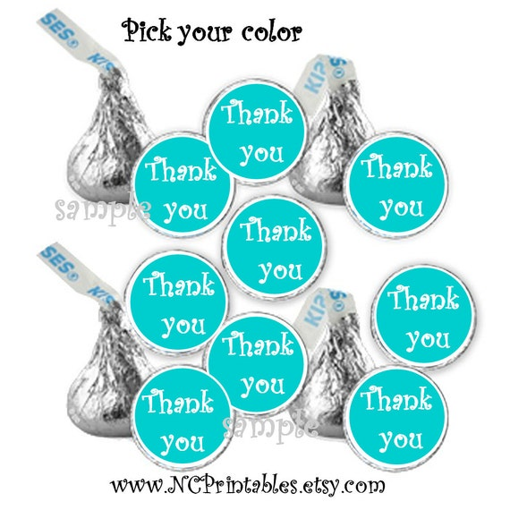 Pick your color Thank You wedding birthday  shower candy stickers (108)
