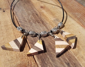 Jumbled Triangles Necklace - NBS007