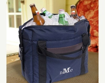 Personalized Soft-Sided Cooler - Personalized Cooler - Soft Cooler - Groomsman gifts - Gifts for Him -  Monogrammed Cooler - GC444