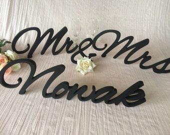 Custom Sign LAST Name. Last name custom sign. Wedding table decor lastname sign. Personalized Family Name Sign,