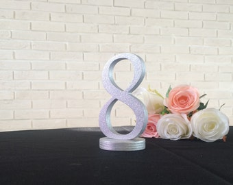 Wedding Table Stable and Free Standing Numbers - choose  DIY , Painted or Glittered table numbers for your wedding