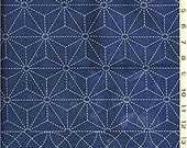 Japanese Sewing Quilting  Fabric - Sashiko Pre-printed Yardage - 3 Sampler Design - Sold by the Half Yard