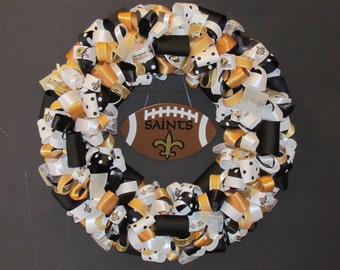 New Orleans Saints Ribbon Wreath