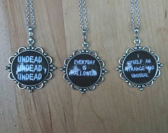 Gothic Quote Necklace
