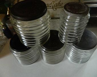 """1930""""s Sellers Hoosier Canister Jars"""