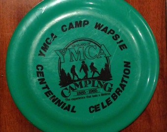 "Vintage 1985 YMCA Camp Wapsie Centennial Celebration Commemorative Souvenir Fun Flyer Frisbee Toy. 1885-1985, 100 Years of YMCA Camping. ""Th"