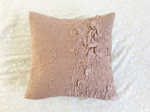Modern Felt Pillows : Modern Felt Pillow Dusty Pink Throw Pillow Decorative Pillow