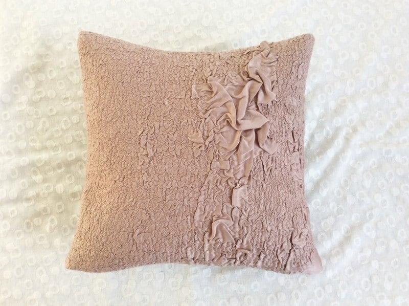Modern Felt Pillow Dusty Pink Throw Pillow Decorative Pillow