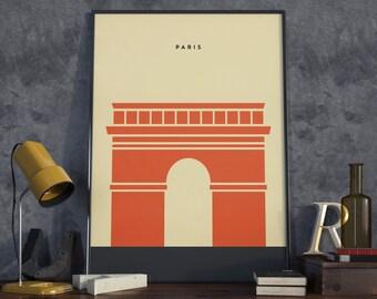 Arc de Triomphe, Paris, France Print. A3 Poster.
