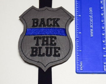 Police Officer Planner Band, Back the Blue, Organizational Supply, LEO Organization, Calendar and Planners, Elastic Book Band, Sheriff Band