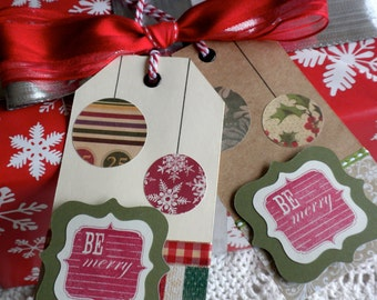 Set of 'Be Merry' Ornaments Tags