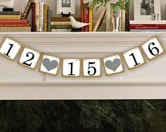 Wedding Decoration  - Save The Date - Wedding Banner - Sign - Garland - Wedding Photo Prop